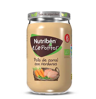 Nutribén Ecopotito Pollo de corral con verduras