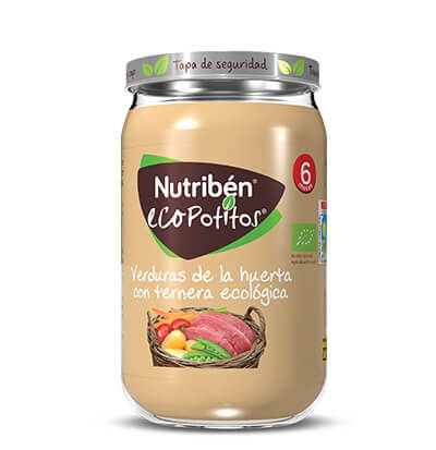 Nutribén Ecopotito verduras de la huerta con ternera ecológico