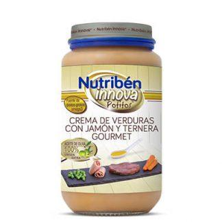 Potito Nutribén Crema de verduras con jamón y ternera Gourmet