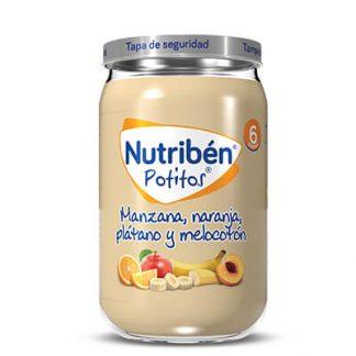 potito nutriben con manzana, naranja, platano y melocotón