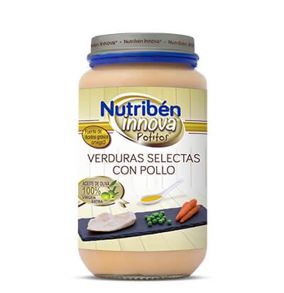 Potito Nutribén Innova Verduras selectas con Pollo